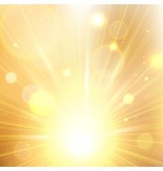 Yellow summer sun light burst vector image vector image