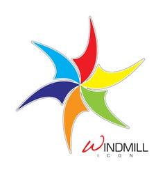Windmill icon vector image