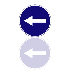 Mandatory direction to the left vector