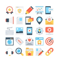 Digital marketing colored icons 2 vector