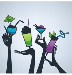 happy hours drinks vector image