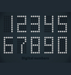 Silver dotted numbers digital picture for vector