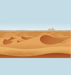 Horizontal seamless background with desert vector
