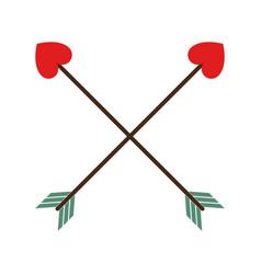 love arrow element decoration vector image