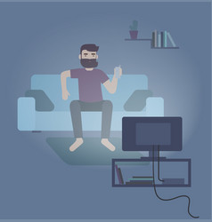 Colorful featuring man sitting vector