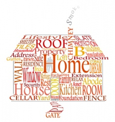 Home words vector