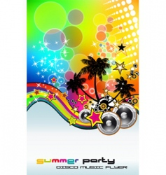 Tropic rainbow mesh vector