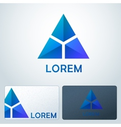 Logotype blue triangles vector