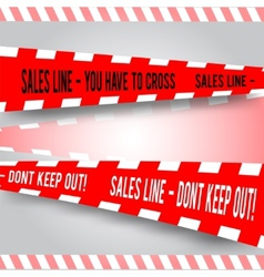 Comic red caution line for sales vector