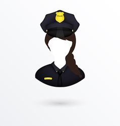 Policewoman icon isolated on white vector
