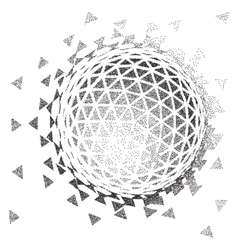 Abstract 3d shape halftone style vector