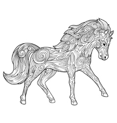 Horse hand drawn ornament vector