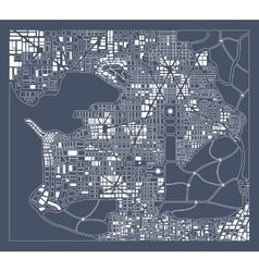 Abstract city plan vector