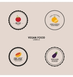 Vegan food labels vector