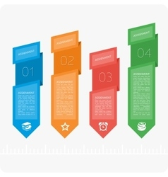 Colorful infographics four steps vector