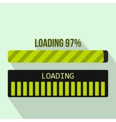 Progress loading bar icon flat style vector