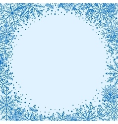 Winter greeting card vector