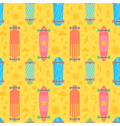 Flat longboards seamless pattern vector