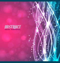 abstract background with glowing threads vector image