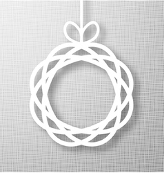 Abstract circle paper applique on gray background vector