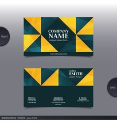 Abstract creative business card vector image