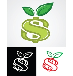 Apple as Dollar Sign vector image vector image