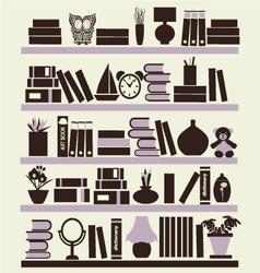 Background of books on the bookshelves vector