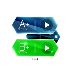 Colorful glossy stripes arrows business vector
