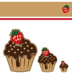 Cream choco cake invitation card vector image vector image