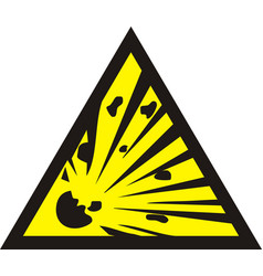 Danger of the explosion - warning sign vector