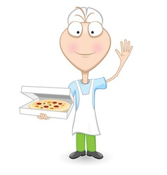 delicious pizza vector image