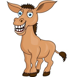 Donkey cartoon vector image