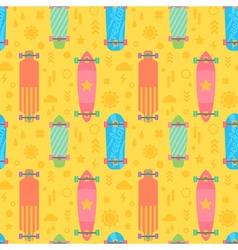 Flat longboards seamless pattern vector