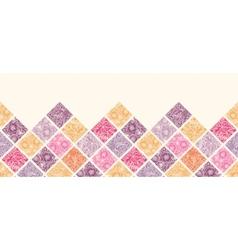Floral mosaic tiles horizontal seamless pattern vector