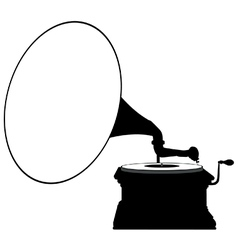 Gramophone silhouette vector image vector image