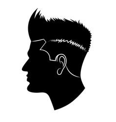 graphic head vector image vector image