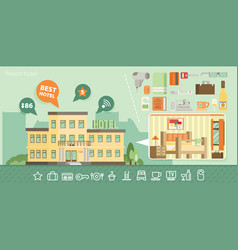 hotel building in summer vacation best choise vector image