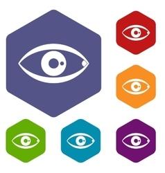 Human eye icons set vector image vector image
