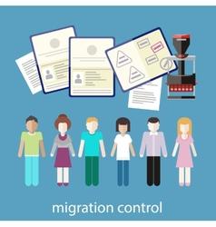 Migration control vector
