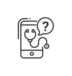 Mobile consultant - line design single isolated vector