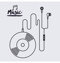 Music record design vector