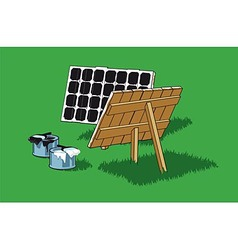 Painted solar panel vector image