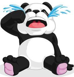Panda crying vector
