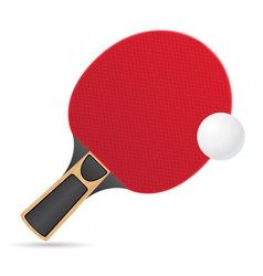 Racket and ball for table tennis ping pong vector