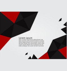 red and black color polygon with copy space vector image