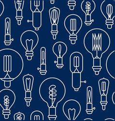 seamless pattern made of linear light bulbs vector image vector image