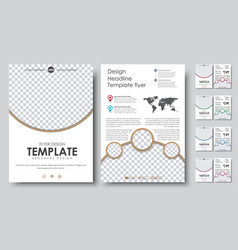 set flyers brochure a4 with empty space for photo vector image vector image