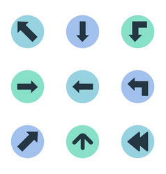 Set of 9 simple indicator icons can be found such vector