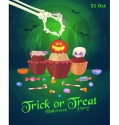 Set of colorful halloween sweets and candies icons vector image vector image