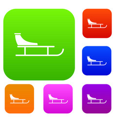 Sled set collection vector